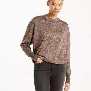 Levi crop lurex long sleeve sweater